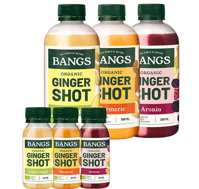 Organic ginger shots